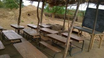 a make-shift classroom