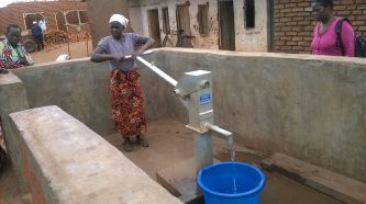 a recently built borehole