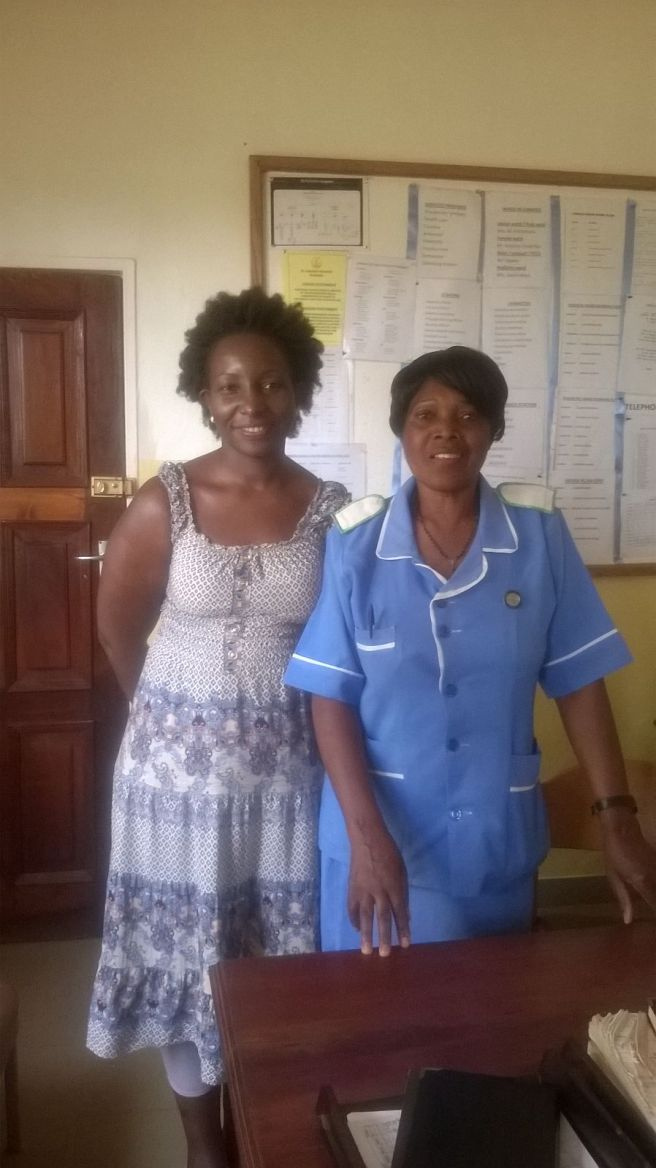 with the matron at St Gabriel's hospital