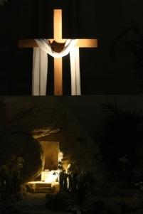 empty tomb & resurrection cross