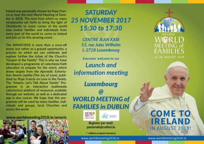 World meeting of families - Ireland